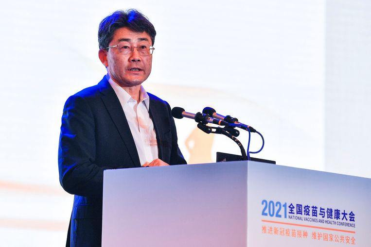 Gao Fu, het hoofd van het Centrum voor Ziektebeheersing en Preventie. Beeld AP