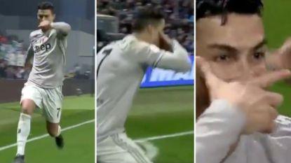 'Siuu' + Dybala-masker + schreeuw in de camera: de nieuwe viering van Cristiano Ronaldo