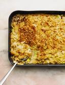 Preibloemkoolgratin uit Bowls of foodness van Nina Olsson.