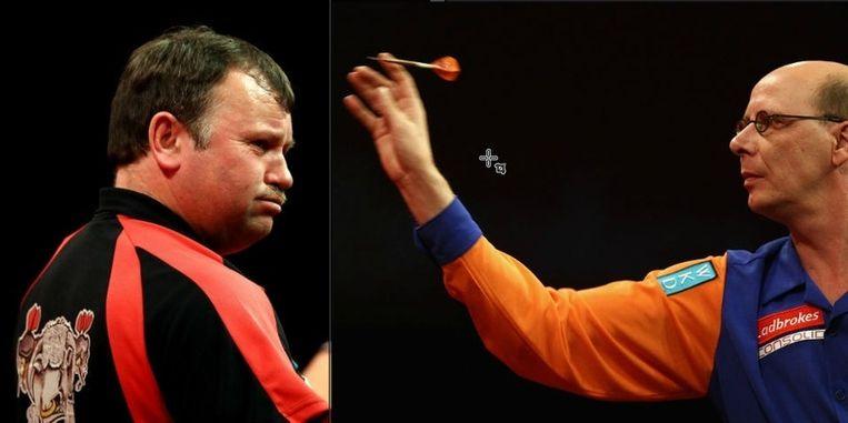 Terry Jenkins (links) en Co Stompé. © GETTY IMAGES Beeld