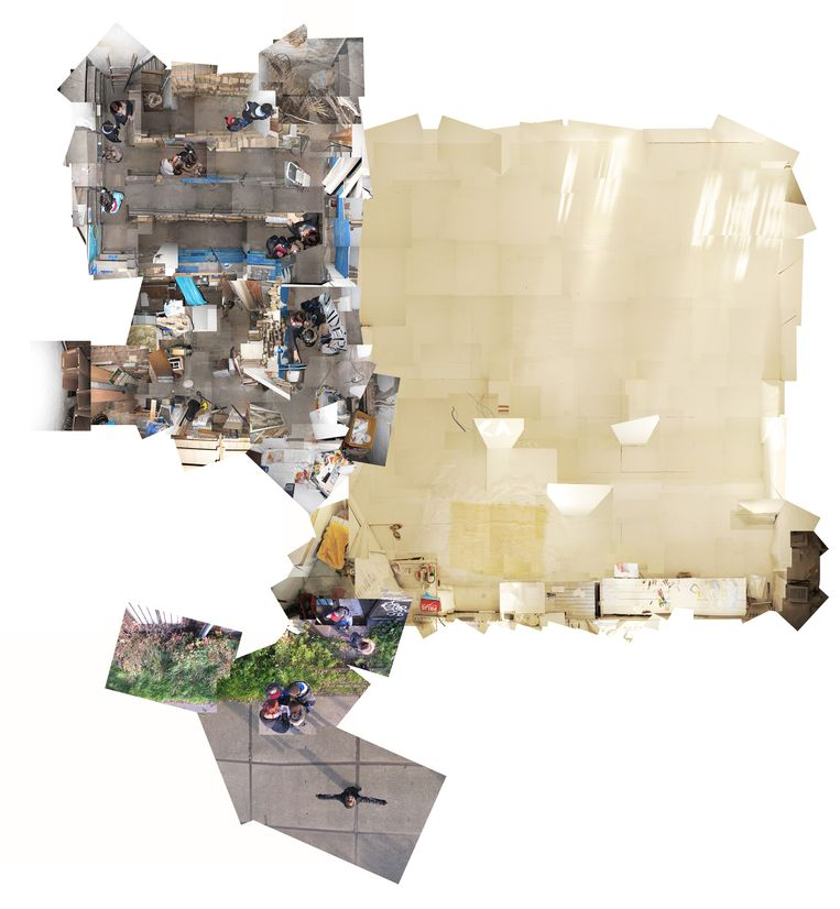 De kunst van Hélène Min. Beeld Fotomontage door Marc Faasse