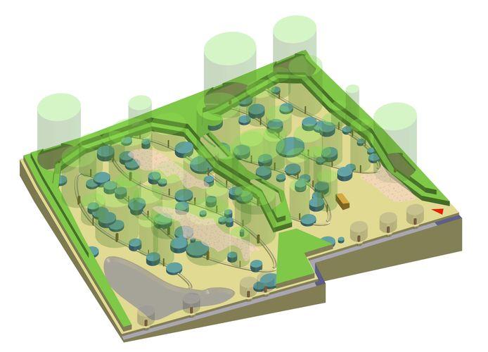 Een toekomstbeeld van de Tuin van Adem en Eten.