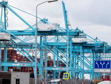 Uithalers van drugs op APMTR-terrein in Rotterdamse haven aangehouden