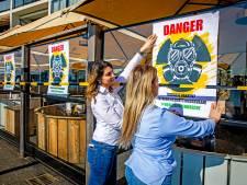 'Extreem besmettingsgevaar!' Terrassen in Papendrecht 'geopend' als stil protest
