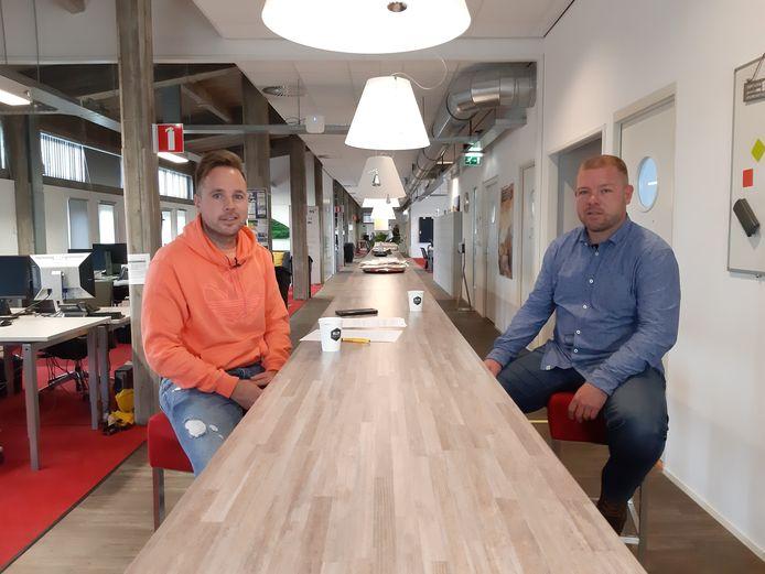 Barry van der  Hooft (rechts) en Juriën Dam