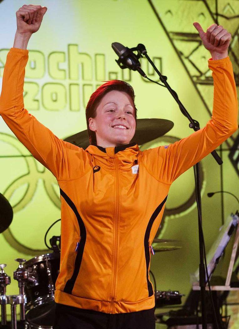 Jorien ter Mors viert feest in het Holland Heineken House Beeld anp
