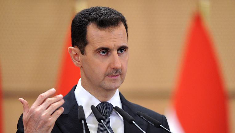 President Assad slaat betogingen keihard neer. Beeld ap