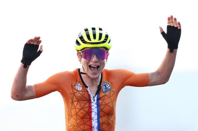 Annemiek van Vleuten dacht even dat ze olympisch kampioen was.