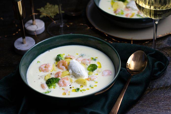 Deze romige soep is een hartverwarmertje.