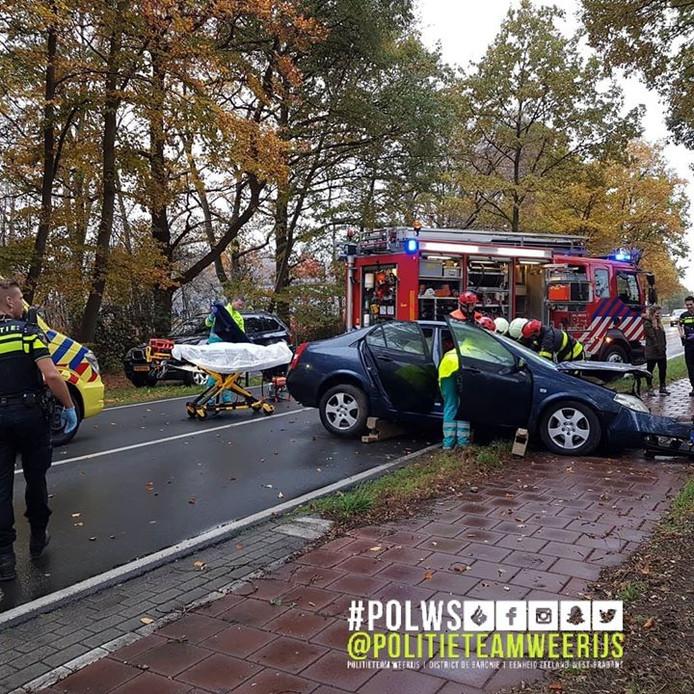 In Wernhout raakte een bestuurder de macht over het stuur kwijt.