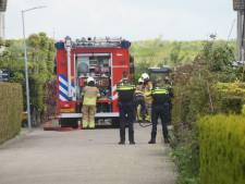 Brand ontstaan na raken hoofdleiding in Sprang-Capelle, straat dicht vanwege gaslek