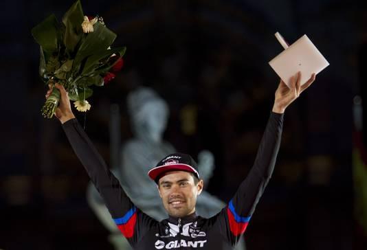 Tom Dumoulin werd uitgeroepen tot meest strijdlustigste renner van de Vuelta.