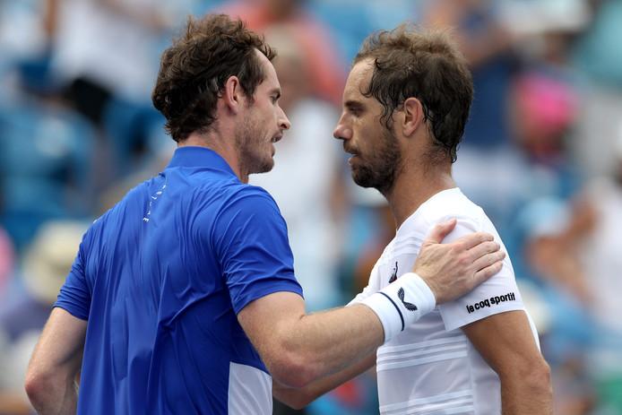 Andy Murray verloor in Cincinnati van Richard Gasquet.
