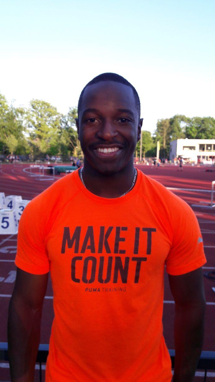 Eindhovense atleet Jonathan Mutebwa van Lycurgus.