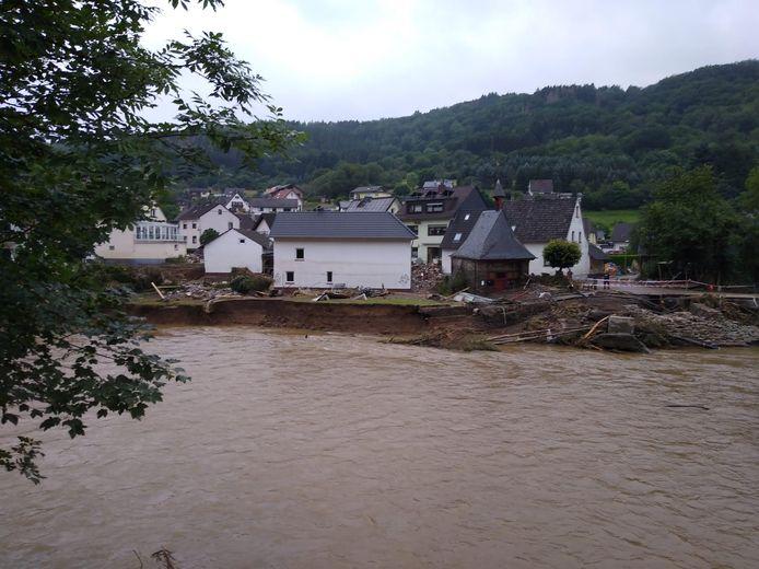 Les inondations à Ahrbrück ont causé beaucoup de dégâts.