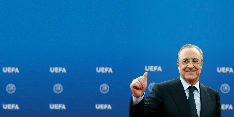 Voorzitter Florentino Perez van Real Madrid. Beeld AP