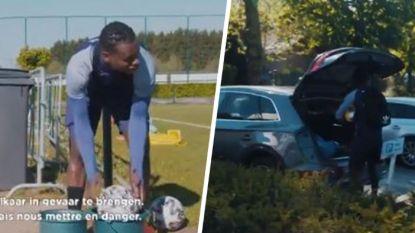 Pas uit de auto op teken van PA Kompany en materiaal ontsmetten: zo verloopt een training in lockdown op Anderlecht