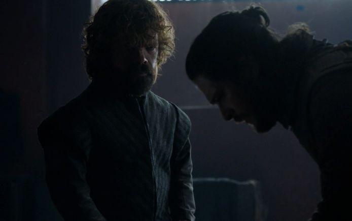 Tyrion en Jon, beiden verscheurd door hun liefde voor Dany.