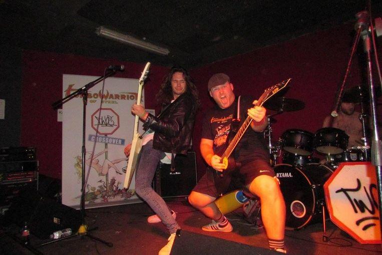 'Turbowarrior of Steel' tijdens een optreden in Oostende.