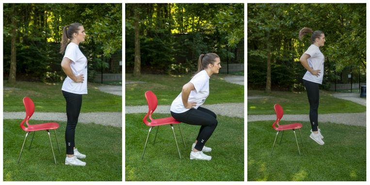 Jumping squats. Beeld Carline Vandercruyssen