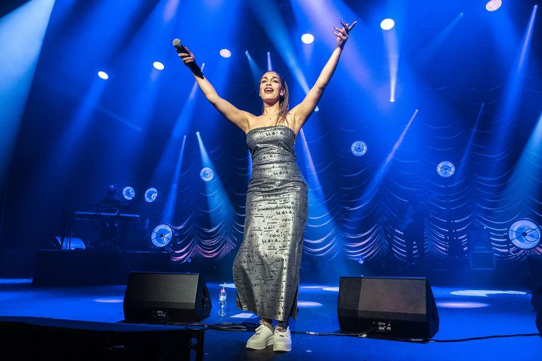 Jorja Smith in The O2 Academy in London.  Beeld Rob Ball