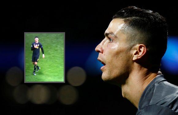 Cristiano Ronaldo pakte in Madrid uit met een opvallend gebaar.