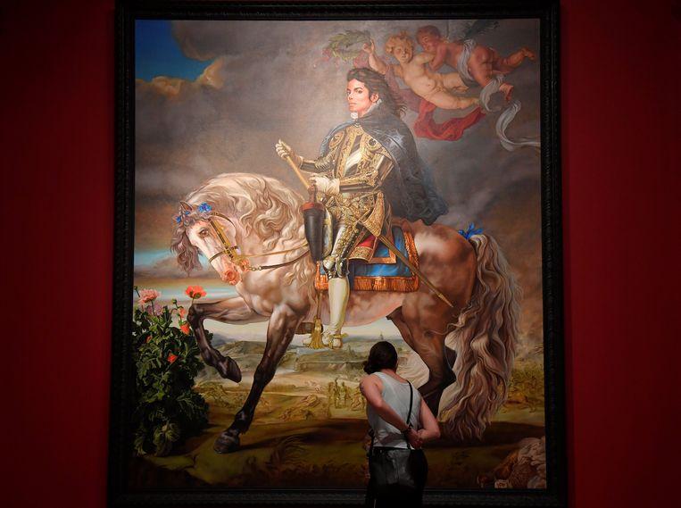 'Equestrian Portrait of King Philip II (Michael Jackson)' van Kehinde Wiley. Beeld REUTERS