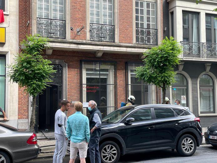 Het eethuisje op de benedenverdieping van het pand in de Jan Palfijnstraat bleef gevrijwaard.