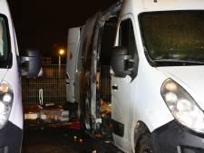 Bestelbus beschadigd door brand in Den Bosch
