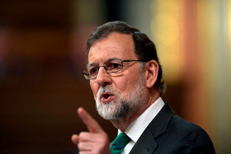 Premier Rajoy. Beeld AFP