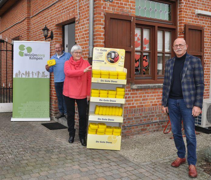 Ronny Jansen, Rosette Broeckx (projectleider Gele doos Kempen) en Wilfried Van Opstal (voorzitter RPO Kempen)