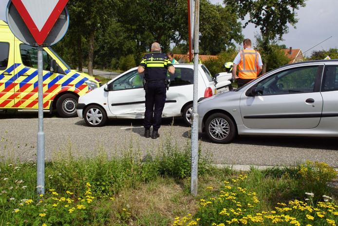 Bij een botsing bij Halle is een persoon gewond geraakt.