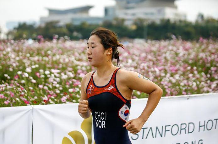 La triathlète Choi Suk-hyeon