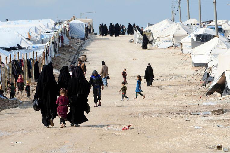 Een opvangkamp in het noorden van Syrië. Beeld AFP