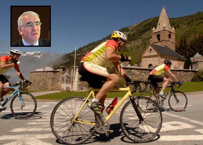 Hans Coolegem (75) was als sportjournalist een groot wielerfan. Thuis vertelde hij vaak over het kerkje  op de Alpe d'Huez.