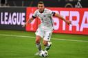Robin Gosens bij zijn debuut in de nationale ploeg van Duitsland.