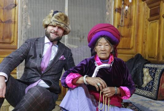 Eduard Schaepman tijdens zijn bezoek aan de Mosuo-stam in februari 2018