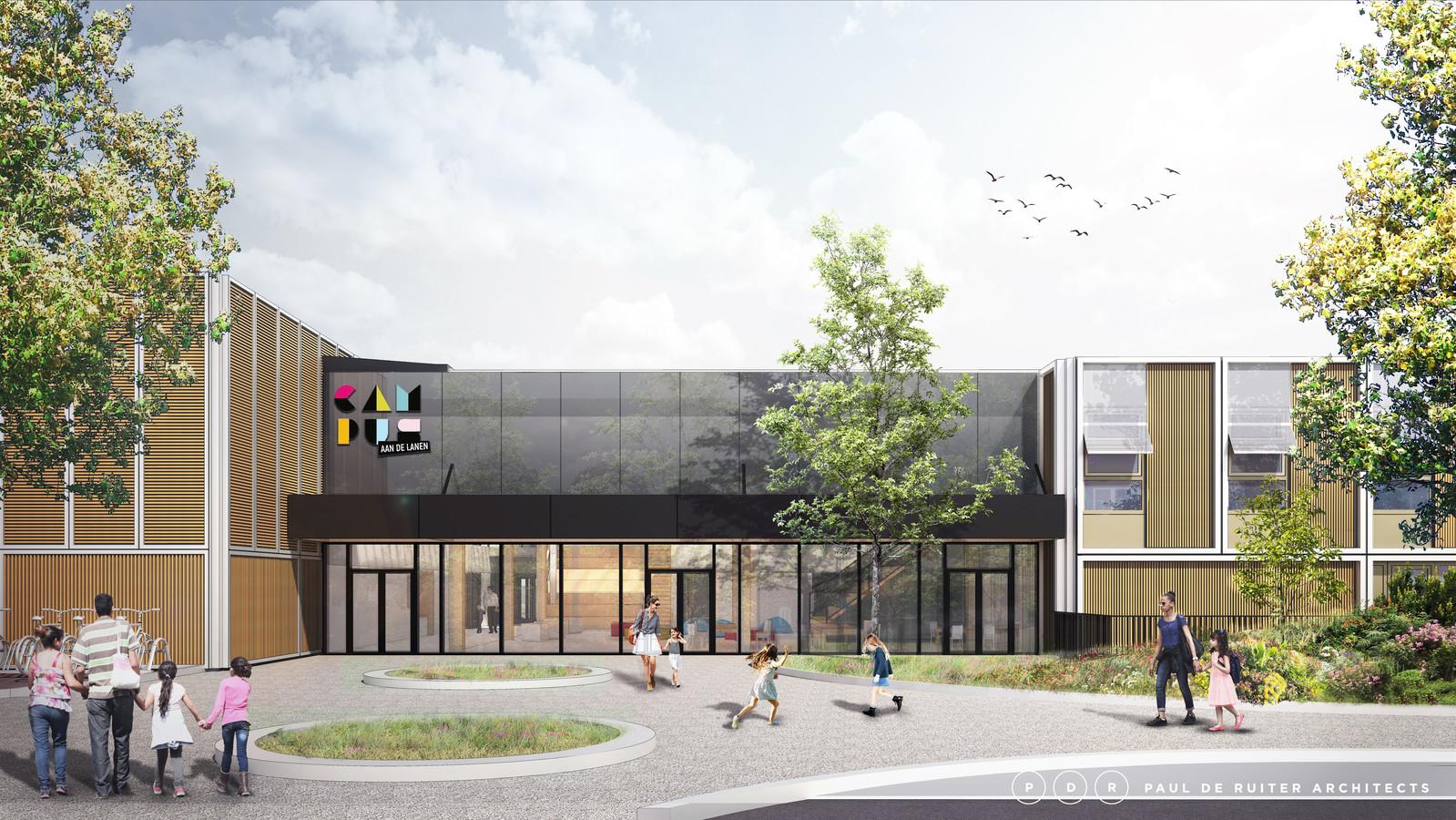 De bouw begint in oktober en duurt naar verwachting een jaar. De opening van het nieuwe pand van Campus aan de Lanen staat gepland voor eind 2021.