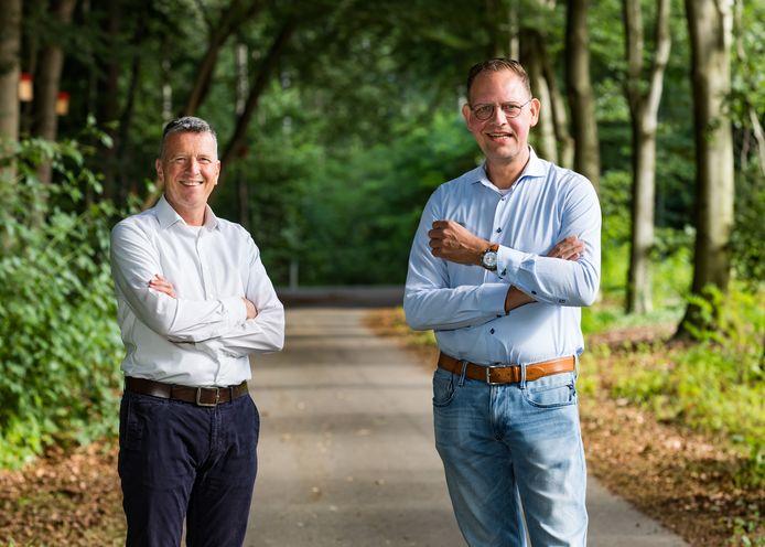 Jos van Doren (links) van Van Doren in Boekel en Cor de Best van Van Lente.