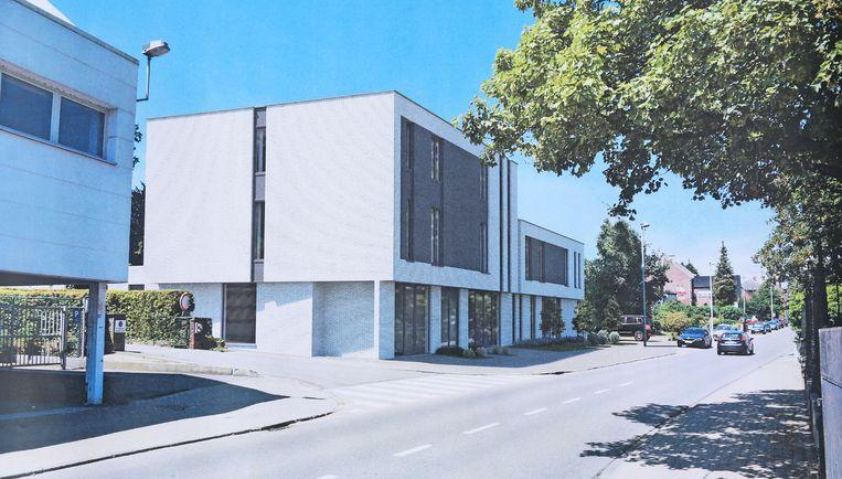 Een toekomstbeeld van het nieuwe woon- en winkelcomplex in de Kerkstraat.