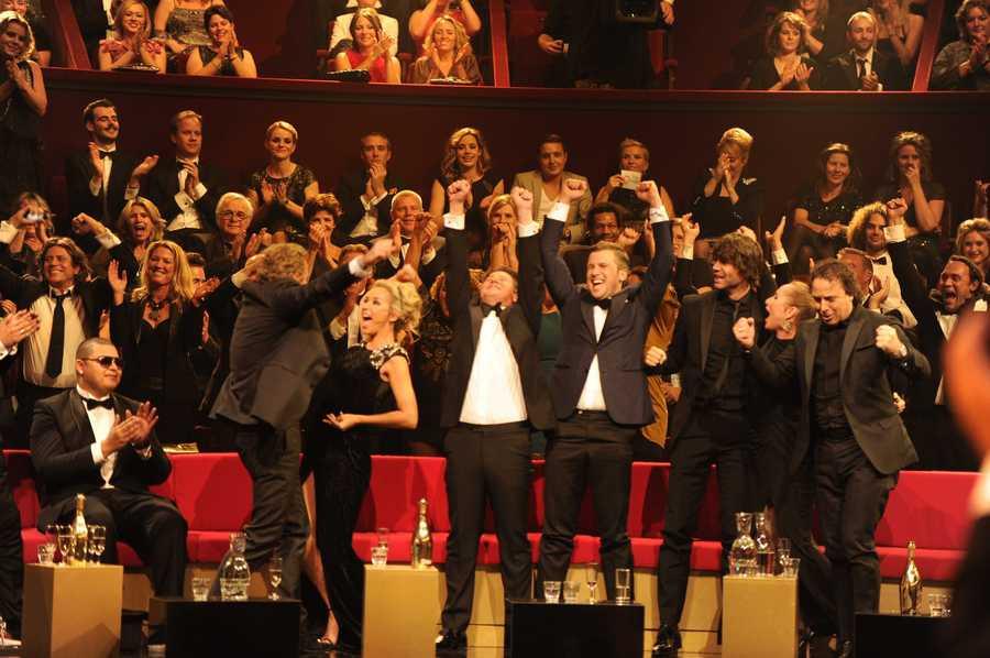 Vreugde bij het team van The Voice of Holland.
