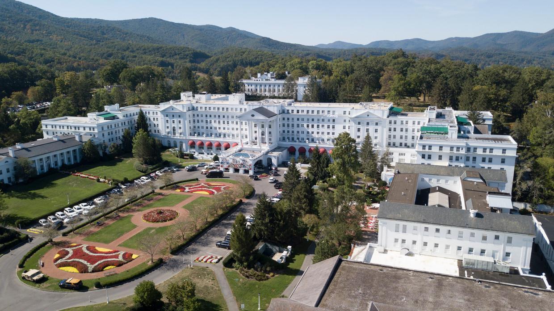 The Greenbrier in White Sulphur Springs is een van de oudste en chicste hotels van de Verenigde Staten. Beeld Steve Helber / AP