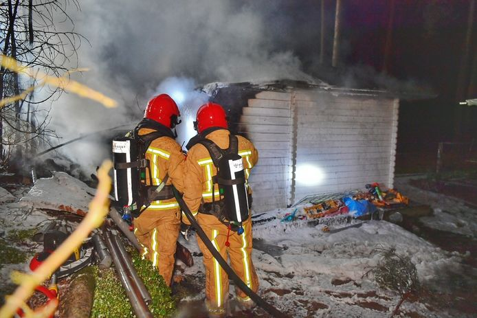Brand op camping in Luyksgestel.