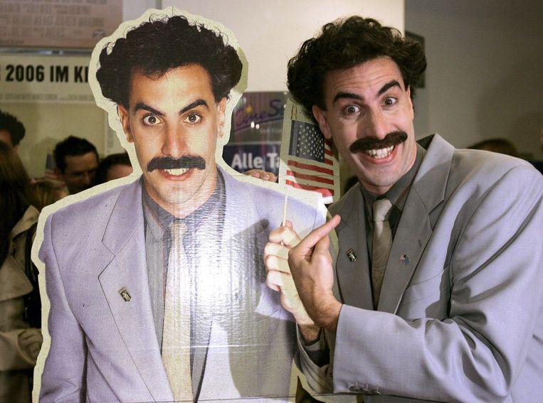 Sacha Baron Cohen als Borat. Beeld EPA