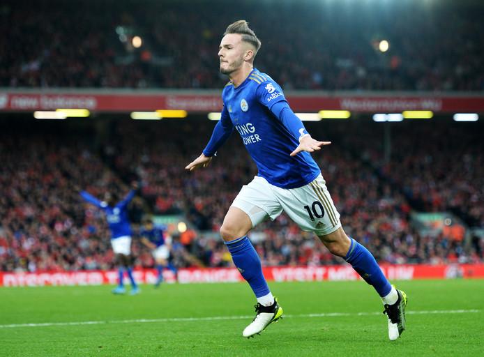 James Maddison scoorde afgelopen weekend namens Leicester City tegen Liverpool.
