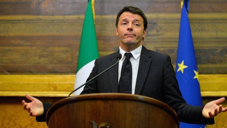 De 39-jarige Renzi, tot maandag burgemeester van Florence, wordt de jongste premier in de Italiaanse geschiedenis Beeld afp