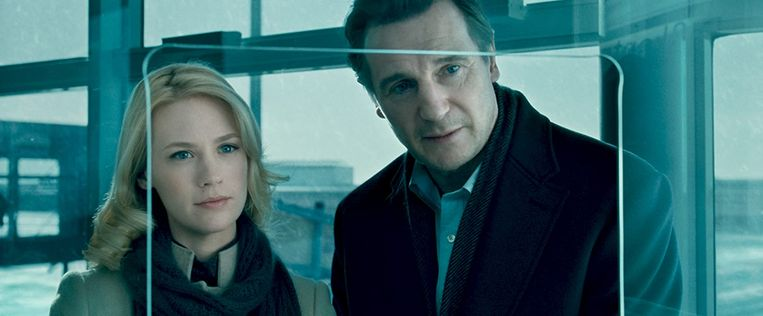 January Jones en Liam Neeson in Unknown. Beeld