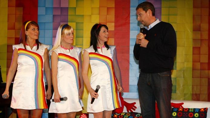 Gert met Karen, Josje en Kristel.