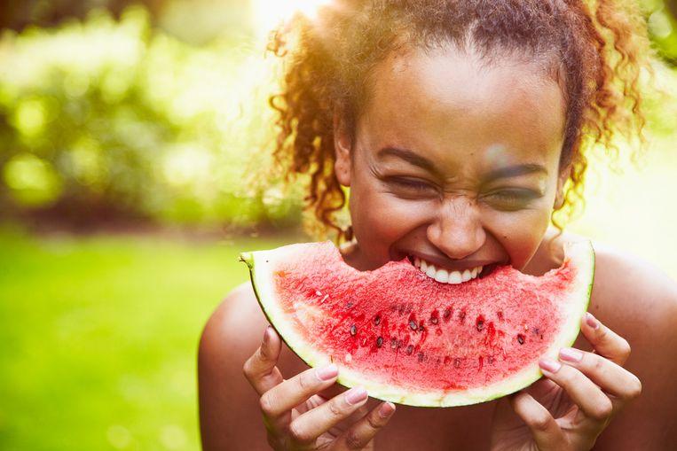 Watermeloen met mosterd Beeld Getty Images