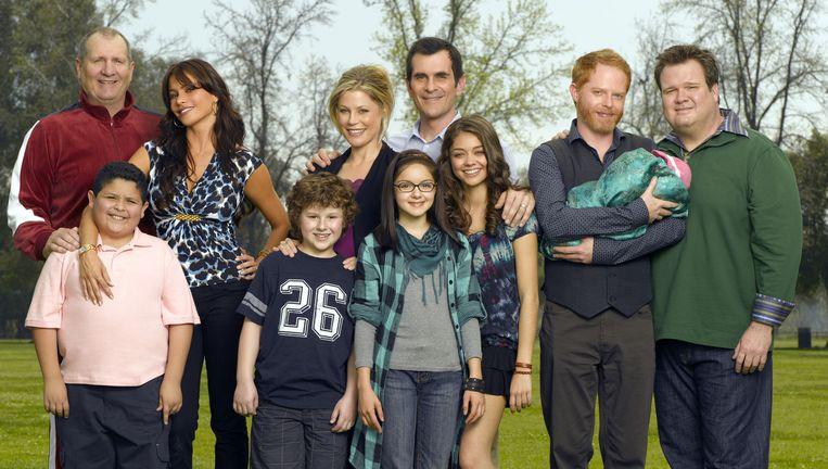 De cast van 'Modern Family'. Beeld rv